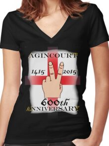 Battle of Agincourt 600th Aniversary Women's Fitted V-Neck T-Shirt