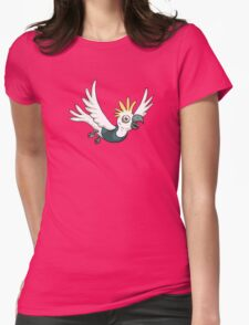 Sulphur Crested Cockatoo in a singlet Womens Fitted T-Shirt