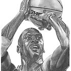 Illustration of an athlete in action. by NSharpy