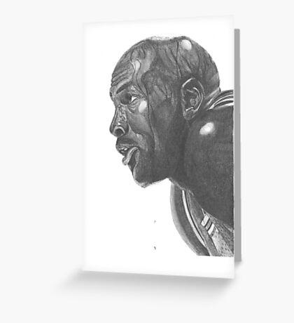 Head of a man study Greeting Card