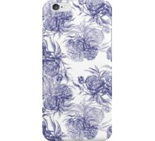 Grisaille Watercolor Peony iPhone Case/Skin
