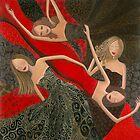 """""""Ruby Red, Satin & Thread"""" by Denise Daffara"""