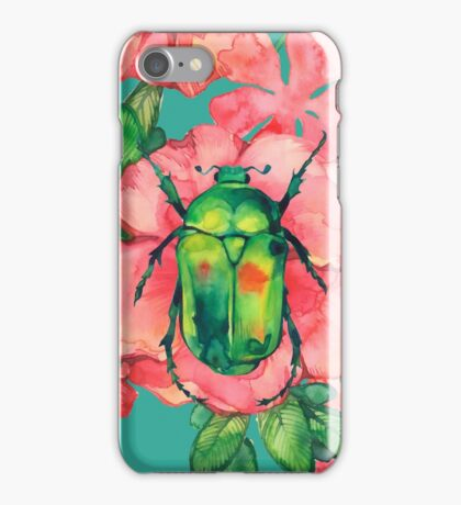 - Wild rose pattern - iPhone Case/Skin