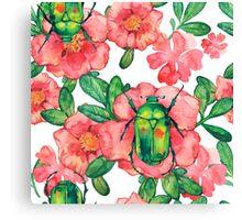 - Wild rose pattern 3 - Canvas Print