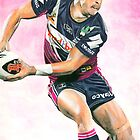 Illustration of a Rugby League player in action. by NSharpy