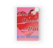First Things First Valentines  Hardcover Journal