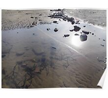 Beach Rock Pool Print Poster