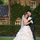 Wedding portrait near Captain Cook's Cottage, Melbourne  by Stephen Colquitt