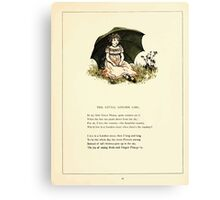Marigold Garden Pictures and Rhymes Kate Grenaway 1900 0023 The London Girl Canvas Print