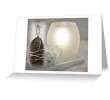 River Pebble Pendant Greeting Card