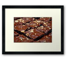 Brownies with nuts and chocolate. Framed Print