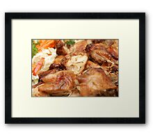 Chicken with Vegetables Framed Print
