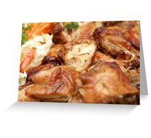 Chicken with Vegetables Greeting Card