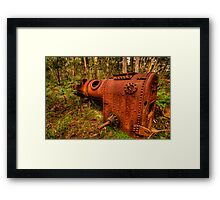 Once Trusted Now Rusted - Mount Irvine, Sydney - The HDR Experience Framed Print
