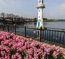 The Lighthouse at Roath Park Lake by Heidi Stewart