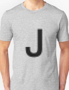 Pixelated Letter J T-Shirt