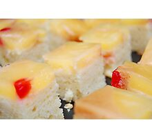 Row of Fruit cakes Photographic Print