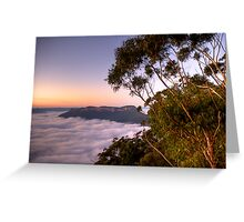 The View - Blue Mountains World Heritage Area - The HDR Experience Greeting Card
