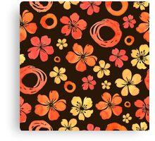 - Floral doodle pattern - Canvas Print