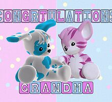 Congratulation Grandma Of Twins by Moonlake
