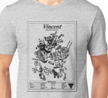 'Vincent HRD-exploded drawing' T-shirt etc Unisex T-Shirt