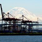 A Distant Mount Ranier by paintingsheep