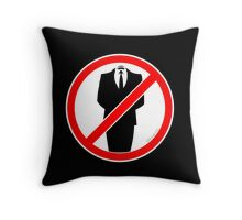 No Suits! Throw Pillow