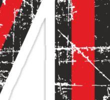 Number 70 Black/Red Vintage 70th Birthday Design Sticker