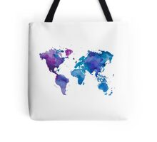 Watercolor Map of the World (t-shirt) Tote Bag