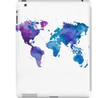 Watercolor Map of the World (t-shirt) iPad Case/Skin