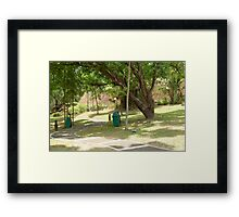 MMLDC mini park pathway in Antipolo, Philippines Framed Print