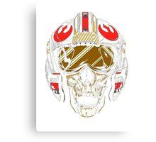 X-Wing Skull Helmet T-Shirt Canvas Print