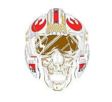 X-Wing Skull Helmet T-Shirt Photographic Print
