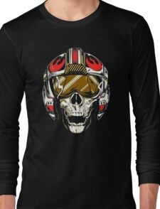X-Wing Skull Helmet T-Shirt Long Sleeve T-Shirt