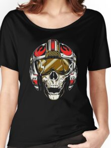 X-Wing Skull Helmet T-Shirt Women's Relaxed Fit T-Shirt
