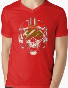X-Wing Skull Helmet T-Shirt Mens V-Neck T-Shirt