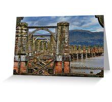 Alloa swing bridge Greeting Card