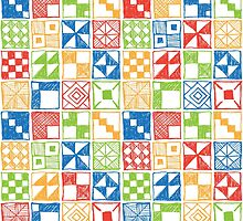 Abstract Squares Primary by Matthew Andrews