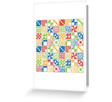 Abstract Squares Primary Greeting Card
