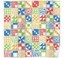 Abstract Squares Primary Poster