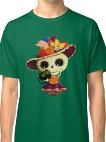 The Day of The Dead Sugar Skul Girl Classic T-Shirt