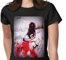 walk this way Womens Fitted T-Shirt