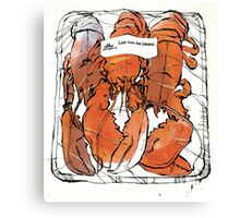 Lobster illustration for foodie magazine. Canvas Print