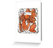 Lobster illustration for foodie magazine. Greeting Card