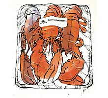 Lobster illustration for foodie magazine. Photographic Print