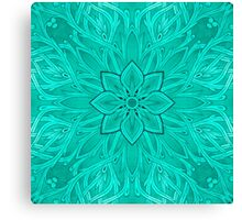 - Turquoise branch - Canvas Print