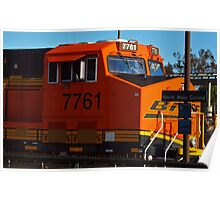 BNSF at the Corona Station Poster