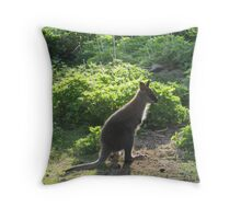 redneck wallaby (joey) Throw Pillow