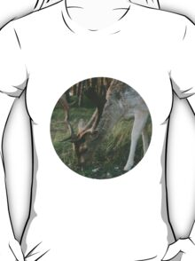 Deer in the woods searching for food T-Shirt