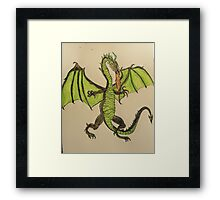 Here there be Dragons ! Framed Print